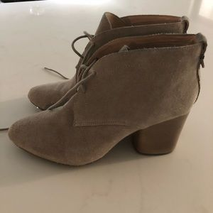 French connection, suede booties